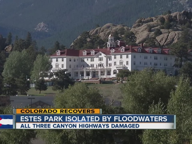 Estes Park isolated by floodwaters