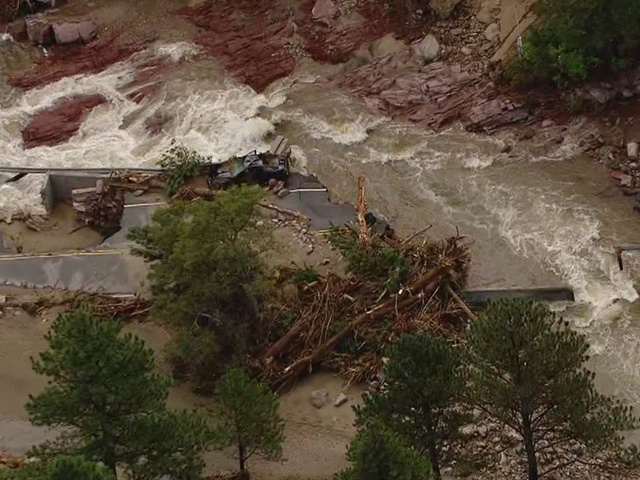 Aerial tour of Lefthand Canyon flood damage
