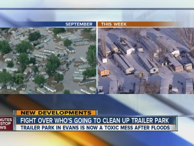 Fight over who cleans up flooded trailer park
