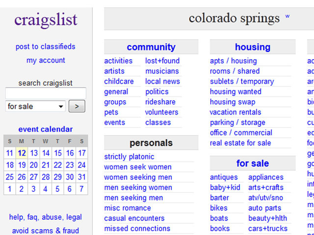 Craigs list colorado spring