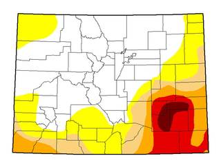 Extreme drought in southeastern Colorado