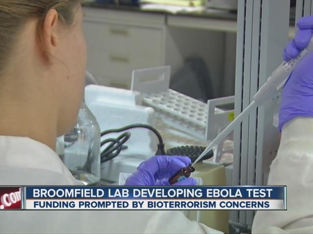 Broomfield lab developing Ebola test