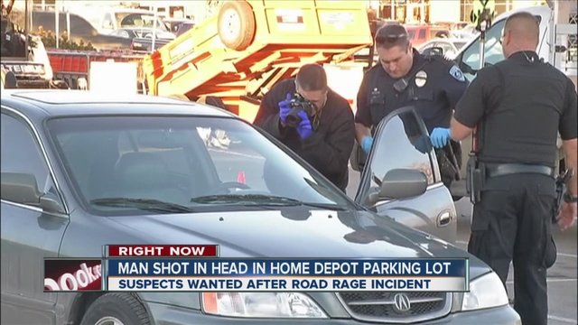 Man shot in head outside Thornton Home Depot store during road