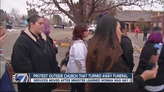 Lesbian funeral service