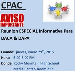 Reunión Informativa para DACA y DAPA