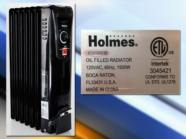 Sunbeam Recalls 34 000 Holmes Oil Filled Space Heaters