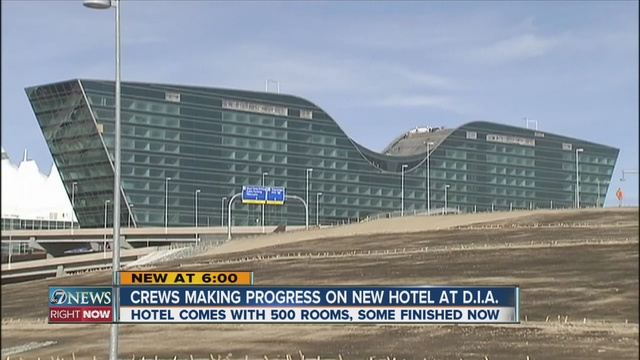 The New Westin Hotel At Denver International Airport Is Scheduled To Open In About Nine Months Just Before Thanksgiving