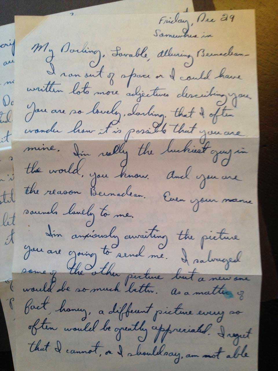 Evergreen woman gets parents world war ii love letter 70 years the letter goes on to say its just when i get so horribly terribly lonely for you that i write letters like this i have never been so homesick for expocarfo