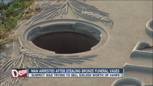 Man Arrested In Theft Of 30000 Worth Of Bronze Gravesite Vases