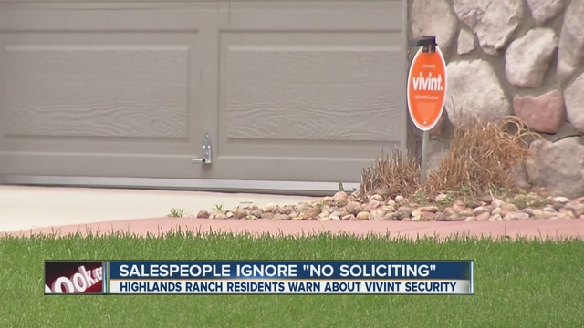 Vivint Security Door To Door Sales People Ignoring U0027no Solicitingu0027 Signs,  DougCo Residents Say   Denver7 TheDenverChannel.com