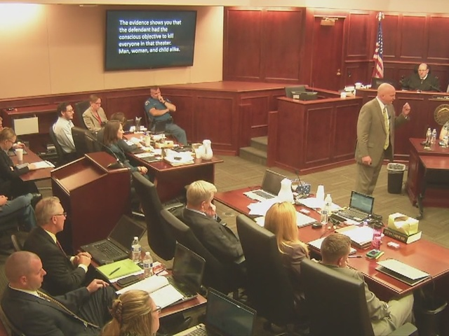 Prosecutor in Aurora theater shooting trial presents argument in phase 1…
