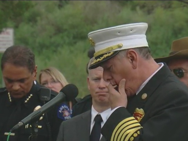 Aurora Fire Department Chief cries while talking about verdict in…