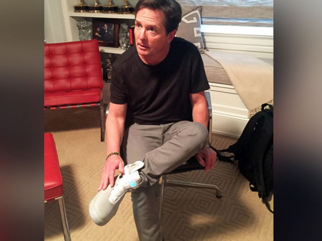 Nike sending first 'Back to the Future' self-tying shoes to Michael J. Fox