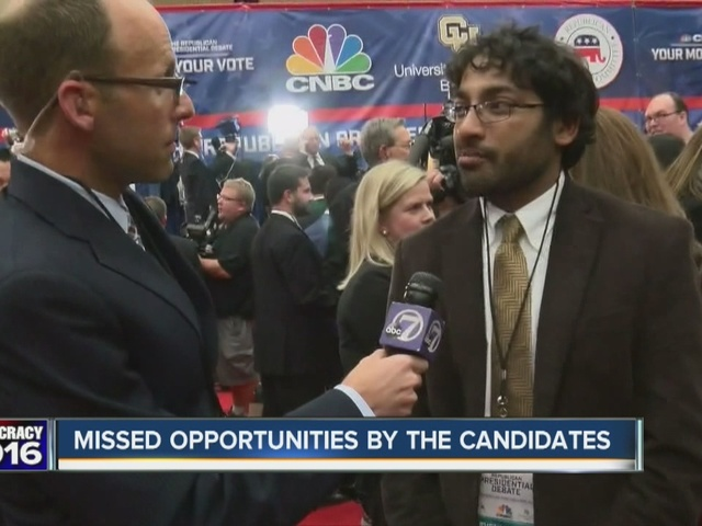 Missed opportunities during the GOP debate