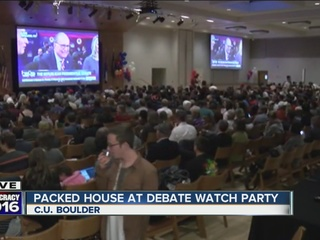 CU Boulder students pack GOP debate watch party