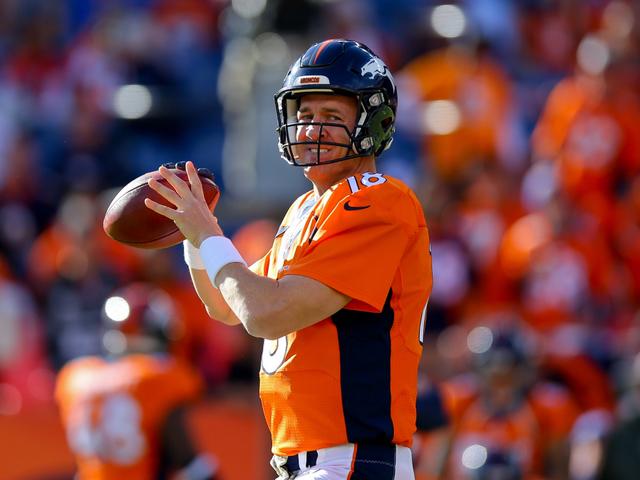 peyton manning broncos. DENVER, CO - NOVEMBER 15: Quarterback Peyton Manning #18 Of The Denver  Broncos Warms Up Before A Game Against Kansas City Chiefs At Sports Authority Peyton Manning Broncos Y