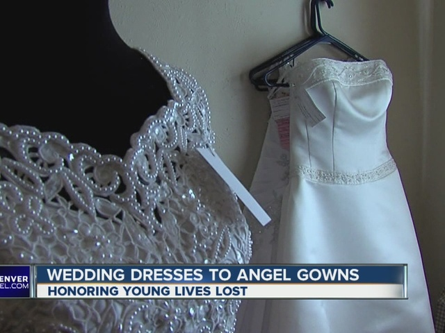 Colorado woman turns wedding dresses into angel gowns - Denver7 ...