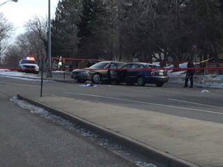 Aurora street reopens after crash, shooting