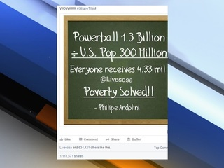 The math in this viral Powerball meme is way off