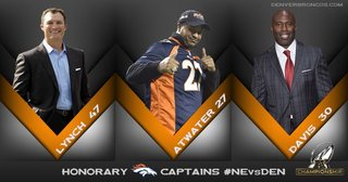 3 Broncos' greats return as honorary captains
