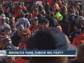 Broncos Pride: Fans celebrate before big game