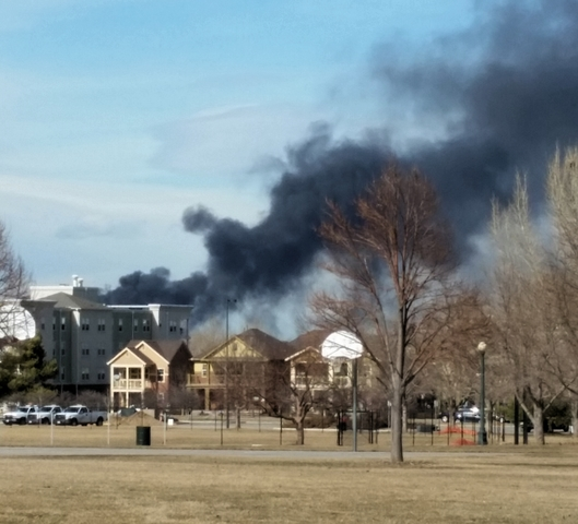 Large Trash Fire Burned At Recycling Center Near I-70 And
