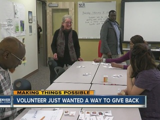 Helping with English helps volunteer find niche