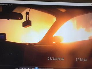 WATCH: Deputy tries fighting wildfire near Limon