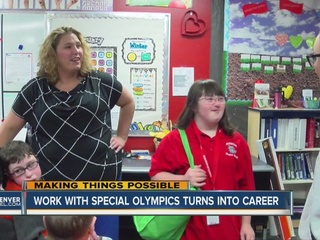 Special Olympics changes woman's career path