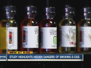 Study highlights hidden dangers of e-cigs