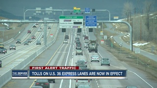Final stretch of US 36 toll lane begins charging