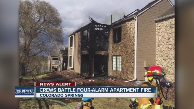 Crews Fight 4 Alarm Apartment Fire In Colorado Springs