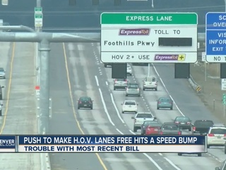 Free HOV device legislation hits speed bump