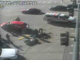 Motorcyclist hit in crash near Auraria Campus