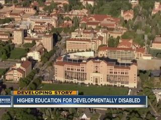 Developmentally disabled seek higher education