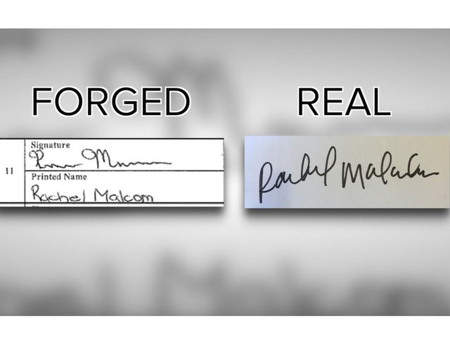 Validating signatures on a petition
