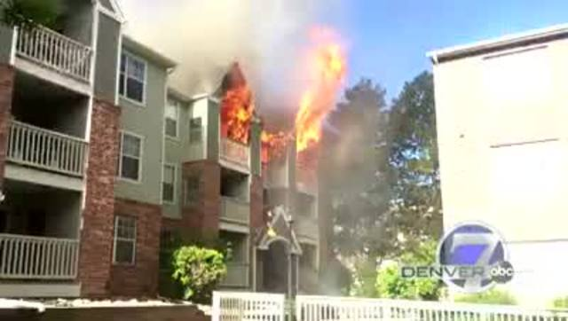This Is Video Of The Raging Fire And Multiple Explosions At An Apartment  Complex In The Denver Tech Center Thursday Morning.