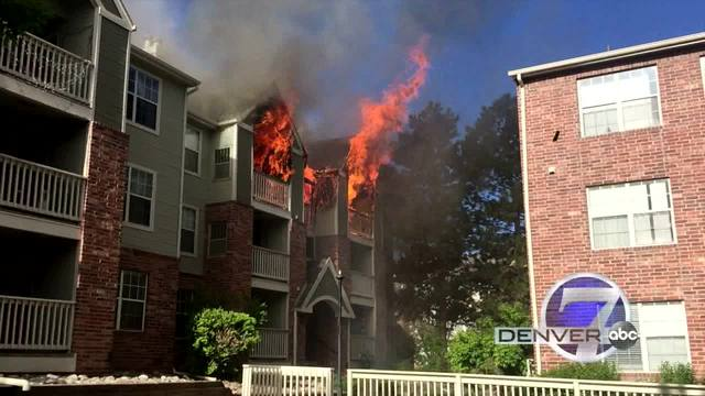 RAW VIDEO: See And Hear Explosions At Denver Tech Center Apt Fire