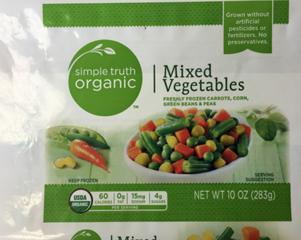 Frozen vegetables recall expands again