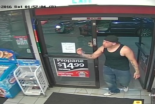 Suspect drags, abducts woman from gas station