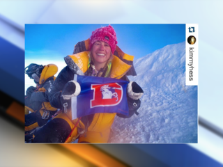 Coloradan takes Broncos flag to top of Everest
