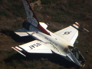 Throttle malfunction caused Thunderbird crash
