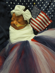 Newborns in red, white & blue for Fourth of July