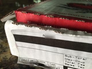 Racial slur printed on Papa John's pizza box