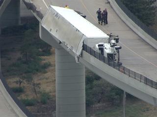 EB I-70 to NB I-25 closed due to semi crash