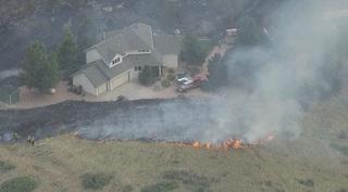 Grass fire burns 30 acres near Carter Lake
