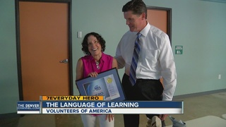Local volunteer helps people learn English