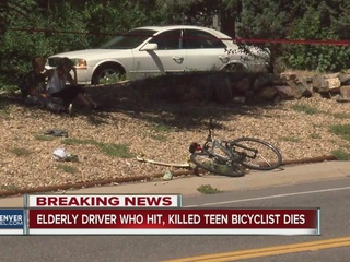 Elderly driver dies after killing teen in crash