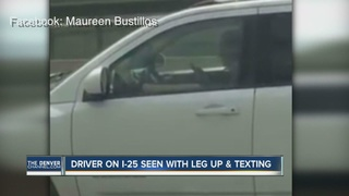 Video shows distracted driver texting on I-25