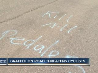 Anti-cyclist graffiti found on Conifer road